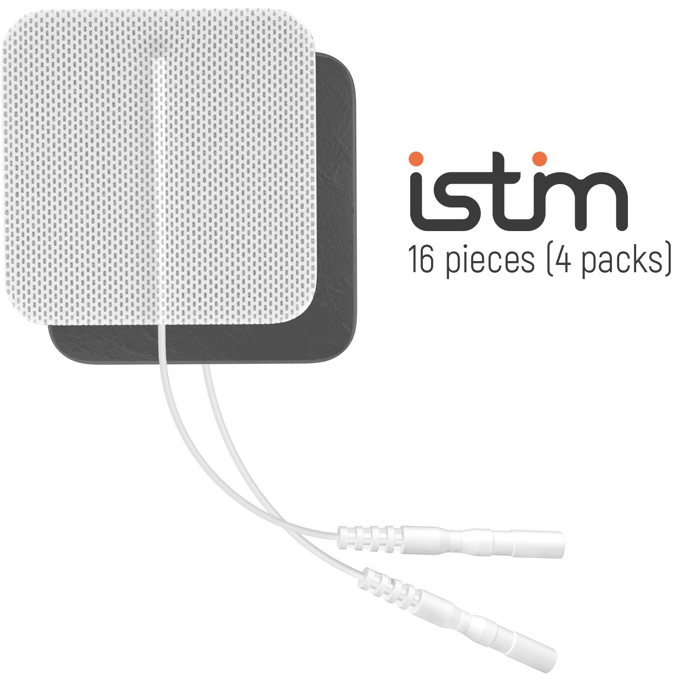 iStim SuperSoft 2x2 Electrodes for TENS/EMS-100% JAPANESE GEL (16 pieces)