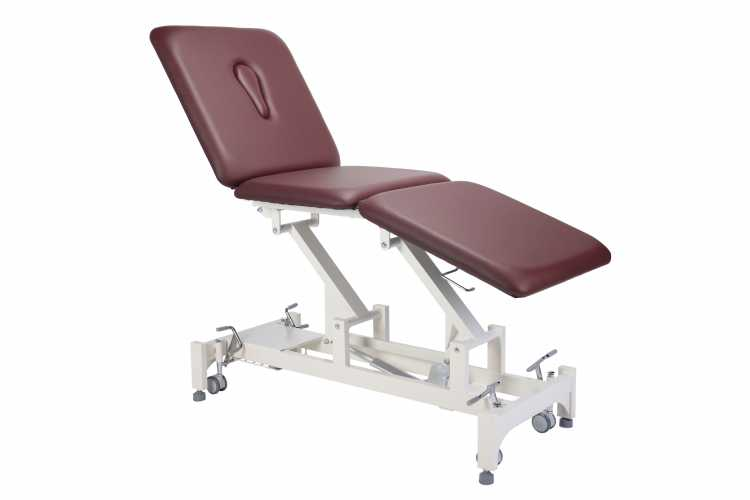 Everyway4all CA65 (TRIO) 3-Section Treatment Table BURGUNDY