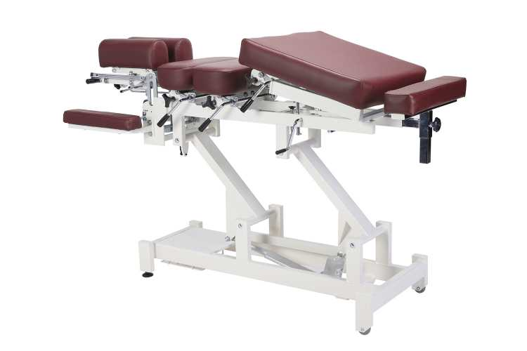 Everyway4all CA130 (CHIROMA) Chiropractic Table BURGUNDY